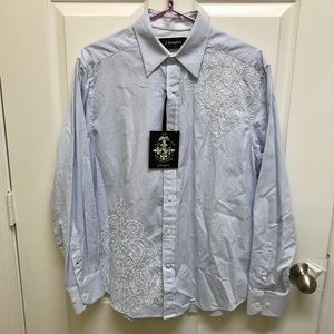NWT J. Campbell Los Angeles Embroidered Shirt